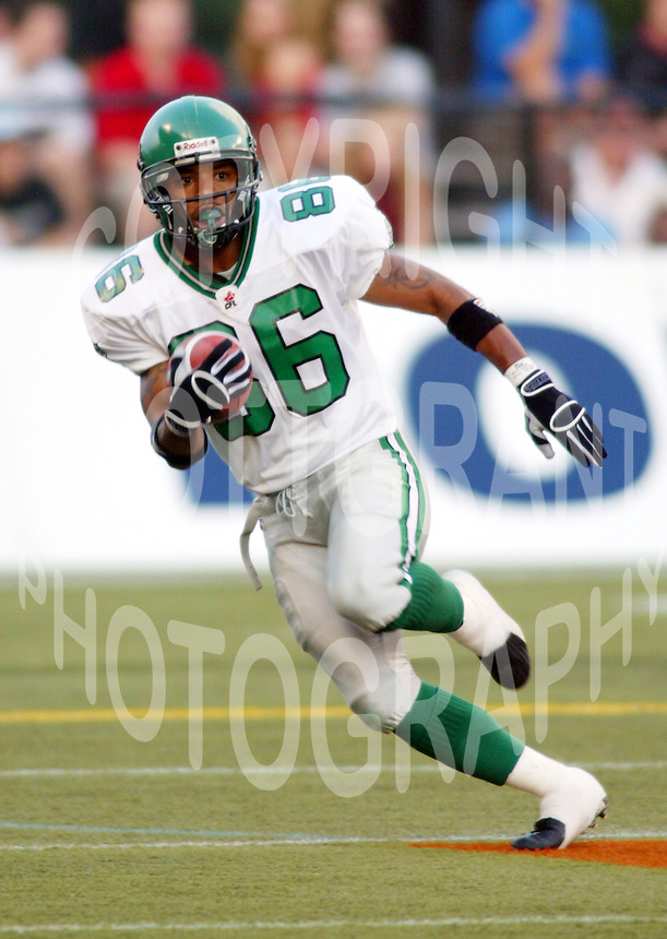 Kevin Nickerson Saskatchewan Roughriders 2003. Photo copyright Scott Grant.