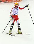 Alana Ramsay, Sochi 2014 - Para Alpine Skiing // Para-ski alpin.<br /> Alana Ramsay competes in the women's slalom standing event // Alana Ramsay participe au slalom debout féminin. 12/03/2014.