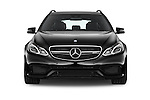 Car photography straight front view of a 2015 Mercedes Benz E Class E63 AMG S 5 Door Wagon Front View