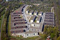 Gleisdreieck Asylanten Wohnungsbau  : EUROPA, DEUTSCHLAND, HAMBURG 19.04.2018: im Bau befindliches Wohngebiet Gleisdreieck Mittlerer Landweg