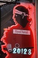"""France/2A/Corse du Sud/Ajaccio: Enseigne du Restaurant """"Le 20123"""" 2 rue du Roi de Rome"""