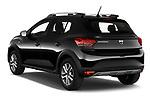 Rear three quarter view of a 2021 Dacia Sandero Stepway Plus 5 Door Hatchback
