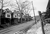 East Cleveland, Ohio<br /> March 25, 2008 <br /> <br /> Many streets in East Cleveland have every home boarded up after. Junkies, drug dealers, squatters and the homeless are known to inhabit these buildings and the area has become dangerous.