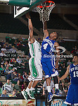 New Orleans Privateers guard Generra Varmall (4) in action during the game between the New Orleans Privateers and the University of North Texas Mean Green at the North Texas Coliseum,the Super Pit, in Denton, Texas. UNT defeated UNO 78 to 47.....