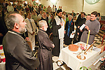 Blessing of the kolach during the banquet at the Metropolitan Theater, San Andreas, for the celebration of the 100th anniversary celebration of Angels Camp's St. Basil of Ostrog Serbian orthodoxs Church.