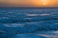 Sunrise over the Beaufort Sea, Barter Island, Arctic, Alaska.