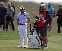 16th July 2021; Royal St Georges Golf Club, Sandwich, Kent, England; The Open Championship Tour Golf, Day Two; Collin Morikawa (USA) on the fairway of the 13th hole