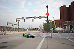 during the Inaugural Baltimore Grand Prix in Baltimore, Maryland on September 2nd, 2011, the Tequila Petron Ferrari turns onto Conway during a lap of qualifying.