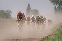 eventual winner Taco van der Hoorn (NED/Roompot-Nederlandse Loterij) sucking dust ahead of fellow riders<br /> <br /> 92nd Schaal Sels 2017 <br /> 1 Day Race: Merksem > Merksem (188km)