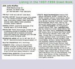 Green Book creative directory, John's pre-digital marketing material.