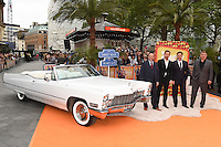 """Joel Silver, Ryan Goslin, Russell Crowe and Shane Black<br /> arrives for the premiere of """"The Nice Guys"""" at the Odeon Leicester Square, London.<br /> <br /> <br /> ©Ash Knotek  D3120  19/05/2016"""