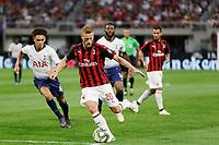 Minneapolis, Minnesota - July 31, 2018: Tottenham Hotspur and AC Milan play in a 2018 International Champions Cup match at US Bank Stadium.