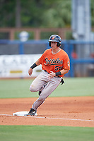 Baltimore Orioles Cody Roberts (55) rounds third base during a Florida Instructional League game against the Tampa Bay Rays on October 1, 2018 at the Charlotte Sports Park in Port Charlotte, Florida.  (Mike Janes/Four Seam Images)