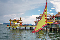 Hean Boo Thean Temple, Chew Jetty, Stilt Houses, George Town, Penang, Malaysia