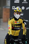Wout Van Aert (BEL) Team Jumbo-Visma at sign on before the start of the 82nd edition of Gent-Wevelgem 2020 running 232km from Ypres to Wevelgem, Belgium. 11th October 2020.  <br /> Picture: Colin Flockton   Cyclefile<br /> <br /> All photos usage must carry mandatory copyright credit (© Cyclefile   Colin Flockton)