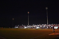 MONTERIA - COLOMBIA, 19-08-2018: Un apagón se registra durante partido entre Jaguares de Córdoba y Independiente Santa Fe por la fecha 5 de la Liga Águila II 2018 jugado en el estadio Municipal de Montería. / A blackout is seen during the match between Jaguares of Cordoba and Independiente Santa Fe for the date 5 of the Liga Aguila II 2018 at the Municipal de Monteria Stadium in Monteria city. Photo: VizzorImage / Andres Felipe Lopez / Cont