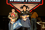 Rance Winters, Stoneyboy Joseph, during the Team Roping Back Number Presentation at the Junior World Finals. Photo by Andy Watson. Written permission must be obtained to use this photo in any manner.