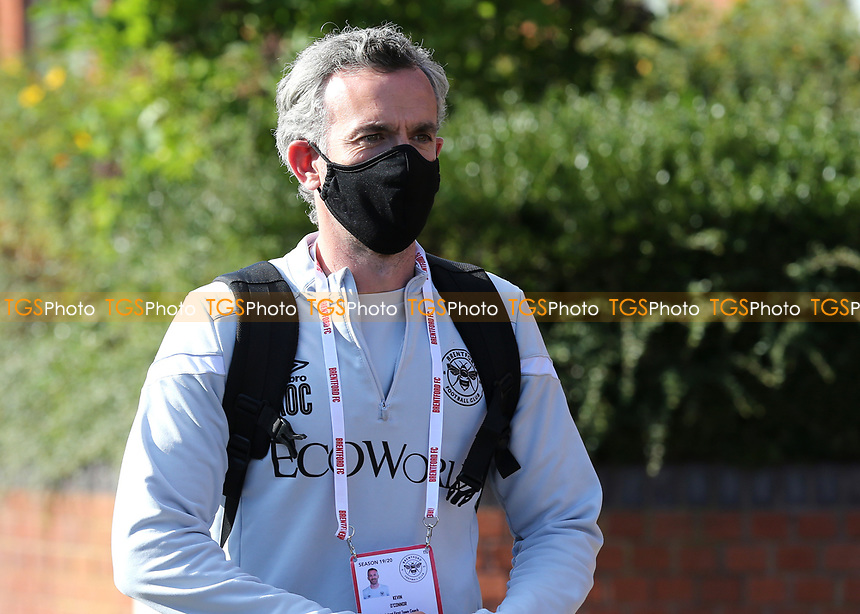 Brentford Assistant First Team Coach, Kevin O'Connor, arrives at the ground ahead of kick-off wearing a face mask during Brentford vs Barnsley, Sky Bet EFL Championship Football at Griffin Park on 22nd July 2020