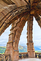 Looking out from the top of the William Wallace Monument in Sterling Scotland