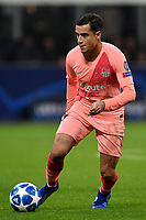 Philippe Coutinho of Barcelona in action during the Uefa Champions League 2018/2019 Group B football match between Internazionale and Barcelona in San Siro stadium, Milano, November, 06, 2018 <br />  Foto Andrea Staccioli / Insidefoto