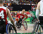 David Eng, Rio 2016 - Wheelchair Basketball // Basketball en fauteuil roulant.<br /> The Canadian men's wheelchair basketball team plays against Japan in the preliminaries // L'équipe canadienne masculine de basketball en fauteuil roulant joue contre le Japon dans la ronde préliminaire. 11/09/2016.