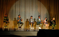 """OAKLAND, CA - AUGUST 11: A community screening of the Hulu documentary """"Homeroom"""" at the Grand Lake Theater on August 11, 2021 in Oakland, California. (Photo by Craig Lee/Hulu/PictureGroup)"""