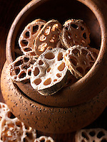 Lotus Root Slices stock photos