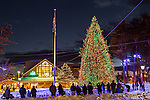 The L L Bean Christmas tree in Freeport, Maine, USA