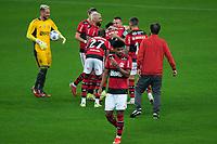 25th August 2021; Arena do Gremio, Porto Alegre, Brazil; Copa Do Brazil, Gremio versus Flamengo; Flamengo players greet Rafinha of Grêmio before the match