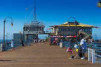 Santa Monica pier boardwalk, LA, California