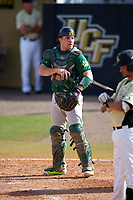 Siena Saints catcher Patrick Ortland (27) during a game against the UCF Knights on February 21, 2016 at Jay Bergman Field in Orlando, Florida.  UCF defeated Siena 11-2.  (Mike Janes/Four Seam Images)