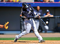 12 March 2011: New York Yankees' outfielder Melky Mesa in action during a Spring Training game against the Washington Nationals at Space Coast Stadium in Viera, Florida. The Nationals edged out the Yankees 6-5 in Grapefruit League action. Mandatory Credit: Ed Wolfstein Photo