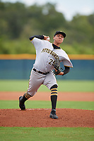 GCL Pirates pitcher Mario Garcia (29) during a Gulf Coast League game against the GCL Rays on August 7, 2019 at Charlotte Sports Park in Port Charlotte, Florida.  GCL Rays defeated the GCL Pirates 5-3 in the second game of a doubleheader.  (Mike Janes/Four Seam Images)