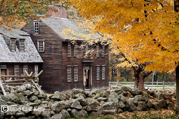 The Hartwell Tarvern, a colonial site on the Battle Road, Minuteman National Park, Concord, MA, USA