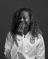 Raleigh, NC - October 3, 2018:  USWNT Black and White Portraits.