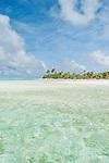 One Foot Island in Aitutaki lagoon, Aitutaki, Cook Islands