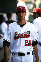 June 15th 2008:  Pitcher Jon Dutton of the Great Lakes Loons, Class-affiliate of the Los Angeles Dodgers, during a game at Dow Diamond in Midland, MI.  Photo by:  Mike Janes/Four Seam Images