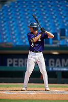 Gavin Conticello (18) of Coral Springs Charter School in Coconut Creek, FL during the Perfect Game National Showcase at Hoover Metropolitan Stadium on June 20, 2020 in Hoover, Alabama. (Mike Janes/Four Seam Images)