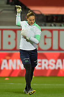 Swiss goalkeeper Elvira Herzog (12)  pictured during a female soccer game between the national teams of Belgium , called the Red Flames and Switzerland on the 8 th and last matchday in group H for the qualification for the Womens EURO 2022 in England , on Tuesday 1 th of December 2020  in Leuven , Belgium . PHOTO SPORTPIX.BE | SPP | DIRK VUYLSTEKE