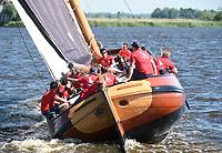 ZEILSPORT: 27-05-2018, trainingsweekend skûtsje Heerenveen, ©foto Martin de Jong