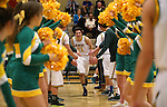 Manogue's James Sandoval gets introduced in a game against Galena, at Manogue High School in Reno, Nev., on Tuesday, Feb. 11, 2014. Manogue won 66-59.<br /> Photo by Cathleen Allison