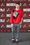 Spanish actor Ruben Ochandiano poses during `Incidencias´ film presentation in Madrid, Spain. December 21, 2015. (ALTERPHOTOS/Victor Blanco)