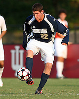 04 September 2009:  Dillon Powers #22 of Notre Dame during an Adidas Soccer Classic match against Wake Foreste at the University of Indiana in Bloomington, In. The game ended in a 1-1 tie..