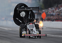 Mar. 11, 2012; Gainesville, FL, USA; NHRA top fuel dragster driver Doug Kalitta during the Gatornationals at Auto Plus Raceway at Gainesville. Mandatory Credit: Mark J. Rebilas-