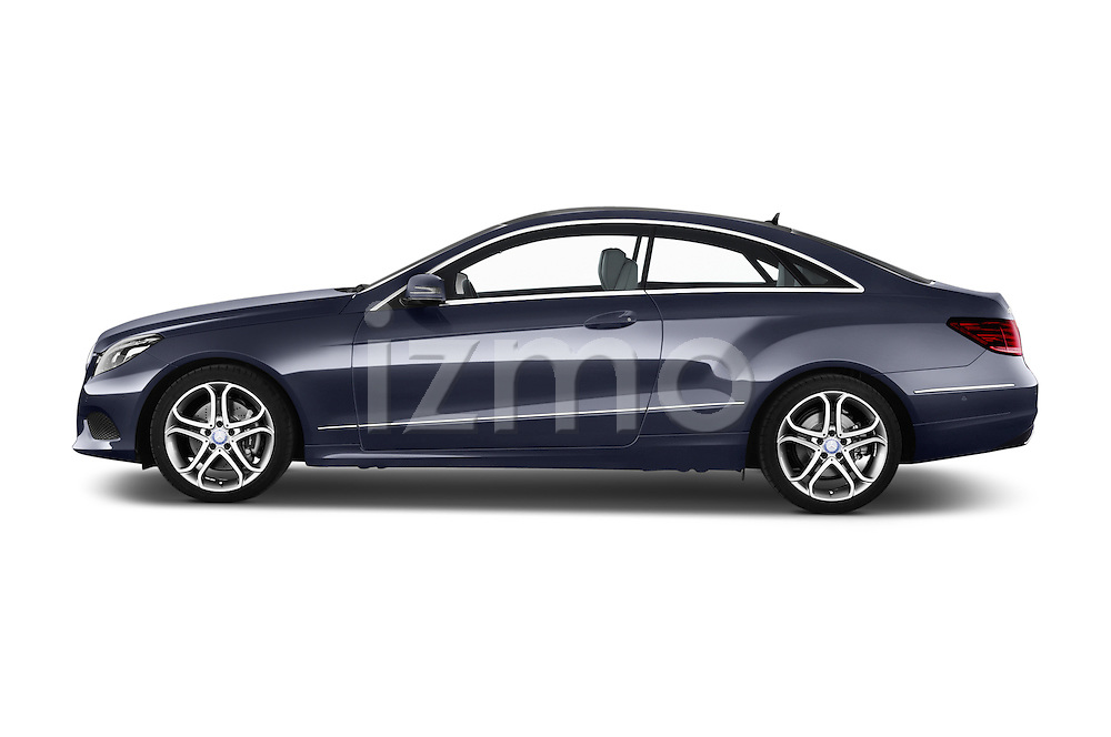 Car Driver side profile view of a2013 Mercedes Benz E Class 220 2 Door Coupe Side View