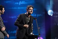 October 27, 2013 File Photo -<br /> Louis-Jean Cormier (R)<br />  at<br /> ADISQ l'autre Gala at Place-des-Arts.