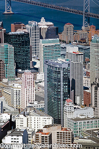 aerial photograph Four Seasons Hotel, 101 Second Street skyscrapers San Francisco
