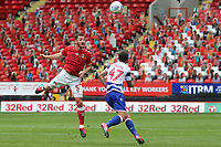 Tom Lockyer of Charlton Athletic heads the ball upfield during Charlton Athletic vs Reading, Sky Bet EFL Championship Football at The Valley on 11th July 2020