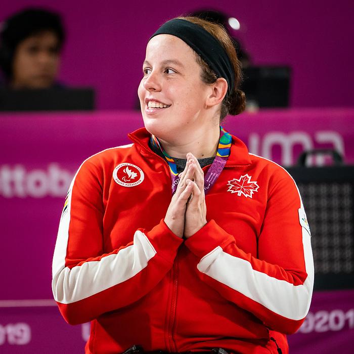Tamara Steeves, Lima 2019 - Wheelchair Basketball // Basketball en fauteuil roulant.<br /> Canada takes the gold medal in women's wheelchair basketball // Le Canada remporte la médaille d'or en basketball en fauteuil roulant féminin. 30/08/2019.