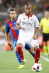 FC Barcelona's Jordi Alba (l) and Sevilla FC's Mariano Ferreira during Supercup of Spain 2nd match.August 17,2016. (ALTERPHOTOS/Acero)